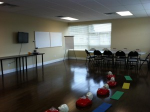 Our First Aid Course Classroom in Winnipeg