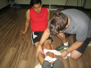 Workplace certification for first aid